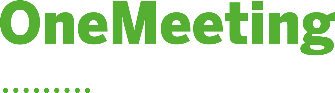 OneMeeting logo green